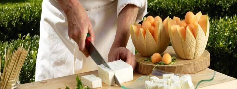 antipasti sfiziosi: spiedini melone rucola feta