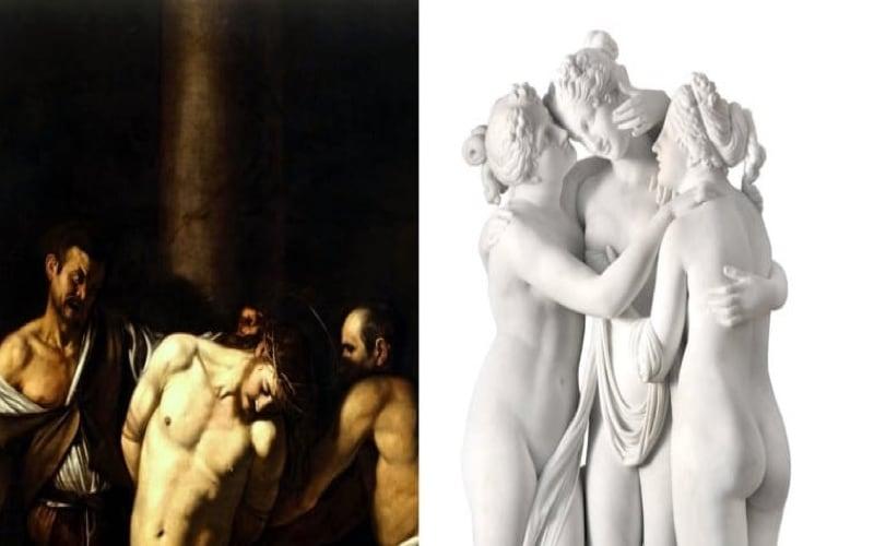 Arte a Napoli - caravaggio - canova-1